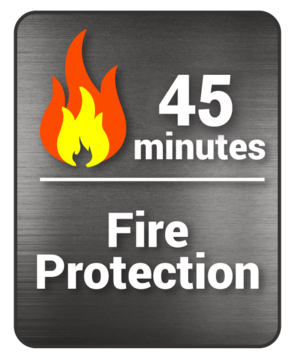 decal 45 min fire