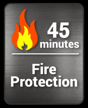 decal 45 min fire